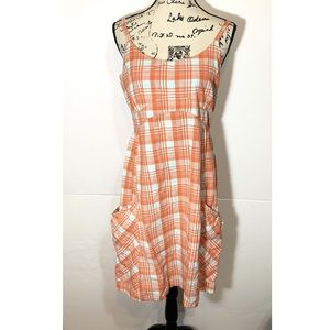 Horny Toad Plaid Low Back Dress
